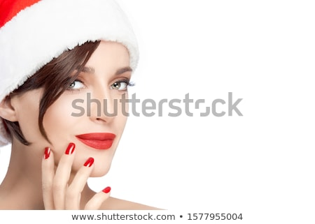Fashion Beauty Make Up With Matching Lips and Nails Stock photo © tobkatrina
