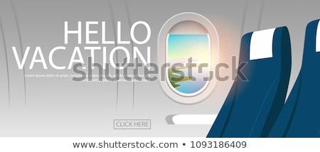 Jet piano cabina finestra interni cielo Foto d'archivio © Anterovium