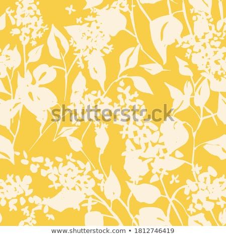 Citromsárga végtelen minta virágmintás végtelenített tapéta minta Stock fotó © zybr78