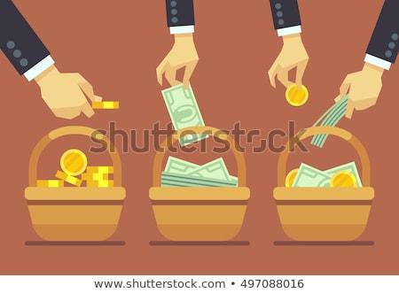 Basket of money Stock photo © prg0383