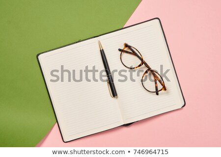 schwarz · Stift · Notebook · Foto · erschossen · Business - stock foto © escander81