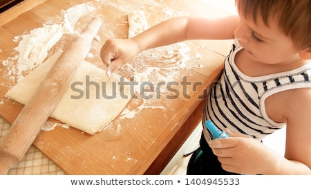 pizza with cutter on small desk Stock photo © gewoldi