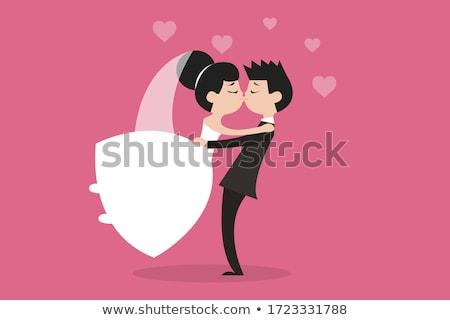 Stockfoto: Vrouw · trouwjurk · dansen · bruiloft · sexy · dans
