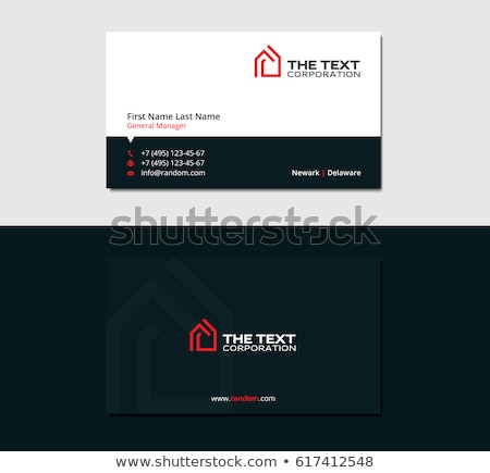 Gayrimenkul kartvizit ev Bina inşaat sanat Stok fotoğraf © rioillustrator