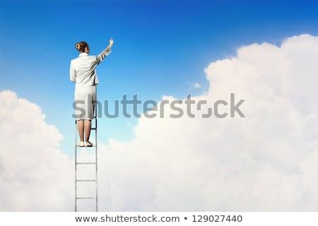 小さな 秘書 登山 はしご 肖像 ビジネス ストックフォト © dukibu
