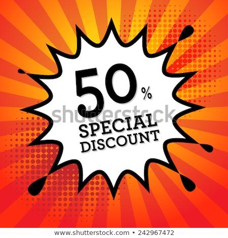 Resumen cincuenta por ciento descuento negocios tienda Foto stock © pathakdesigner