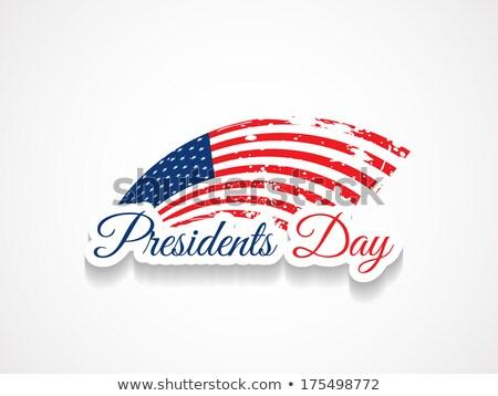 Hermosa día Estados Unidos bandera diseno vector Foto stock © bharat