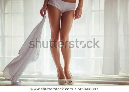 Bella gamba giovani sposa piedi erba Foto d'archivio © tepic