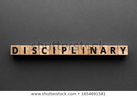 DISCIPLINARY Stock photo © chrisdorney