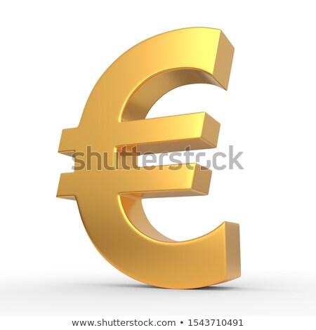 Europeu moeda símbolo dólares dinheiro banco Foto stock © limbi007