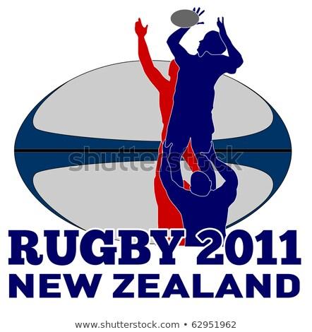 Rugby piłka Nowa Zelandia 2011 ilustracja gracz Zdjęcia stock © patrimonio