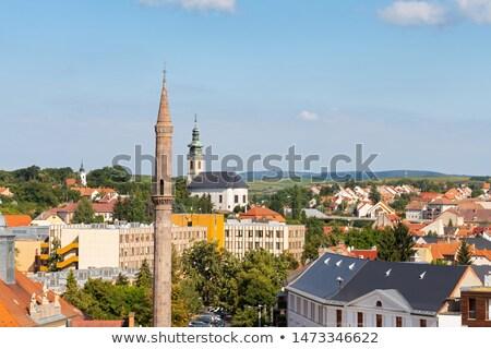 Minaret vue ville centre bâtiment Photo stock © joyr