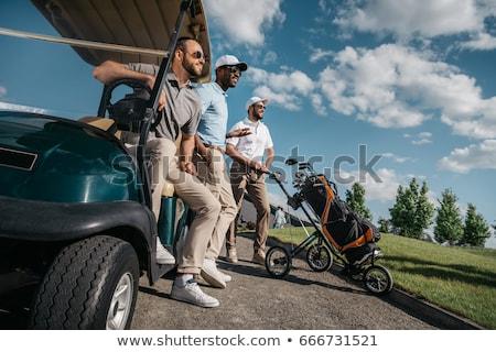 молодые гольфист мужчины играет облака человека Сток-фото © vanessavr