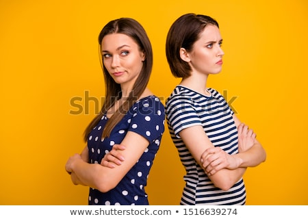 Lesbian couple blaming to each other Stock photo © bmonteny