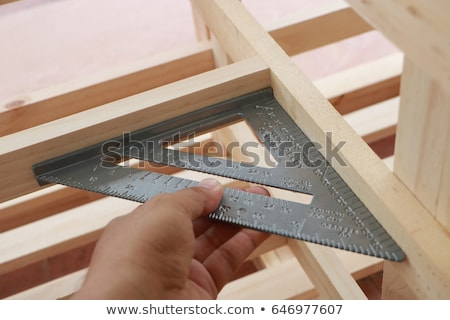 Carpenters level, ruler and right angle Stock photo © juniart