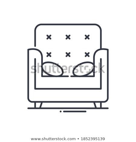 cómodo · silla · ilustración · moderna - foto stock © daneel