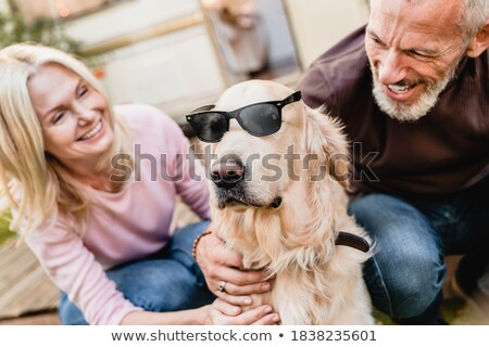 Lovely Caucasian Couple Wearing Shades Together Stock photo © stryjek