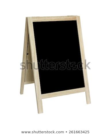 empty blackboard with tripod wooden stock photo © frameangel
