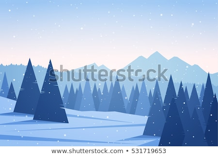 Domboldal hó Kaukázus hegyek Grúzia kilátás Stock fotó © BSANI