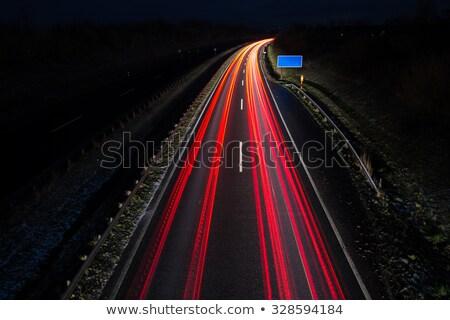 Genişbant kırmızı yol işareti gökyüzü yol Stok fotoğraf © tashatuvango
