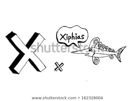 Karikatur Text Schriftart Hand Zeichnung Vektor Stock foto © kiddaikiddee