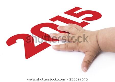 пальца прикасаться год 2015 синий цифровой Сток-фото © premiere