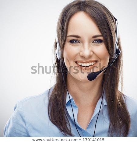 довольно молодые обслуживание клиентов представитель великолепный Сток-фото © dash