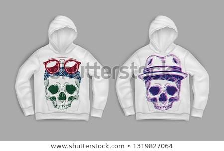 modern gangster in sweatshirt with hood and sunglasses stock photo © feelphotoart