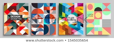 pattern of geometric shapes colorful mosaic backdrop geometric retro background stock photo © littlecuckoo