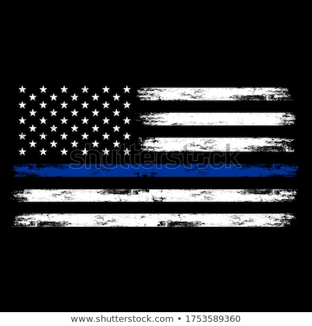 thin red blue line flag Stock photo © tony4urban
