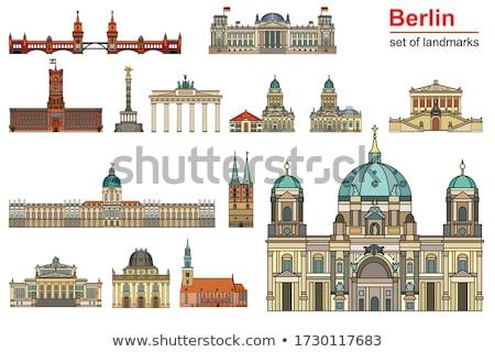 Berlin kilátás katedrális tv torony Németország Stock fotó © joyr