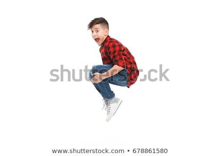 прыжки · мальчика · мало · Cute · счастливо · дизайна - Сток-фото © Norberthos