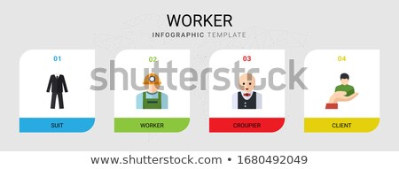 Vector Flat Icons Design 4 Occupations 'Repairman, Businessman,  Stock photo © thanawong