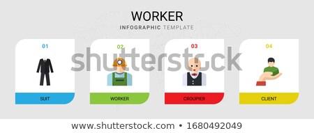 vecteur · icônes · design · affaires · pompier - photo stock © thanawong