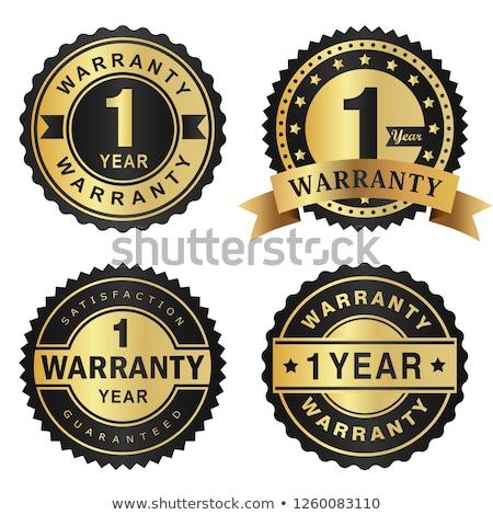 Jahr Garantie golden Vektor Symbol Design Stock foto © rizwanali3d