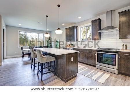 современных · кухне · мебель · интерьер · приготовления · жизни - Сток-фото © smuki