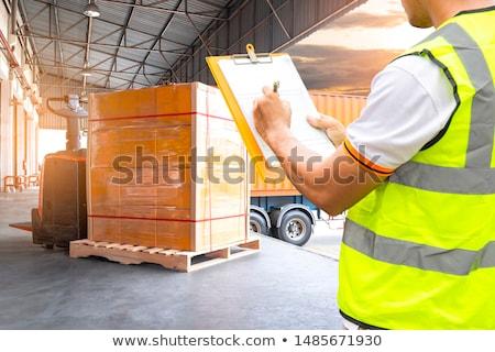 Image of pallets Stock photo © cherezoff