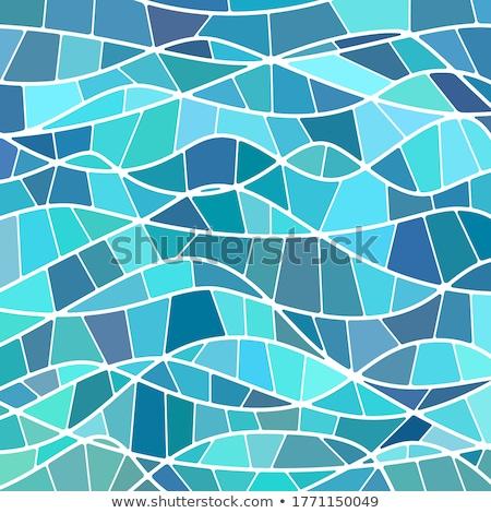 Stok fotoğraf: Soyut · mozaik · dalga · şık · sanat · renk