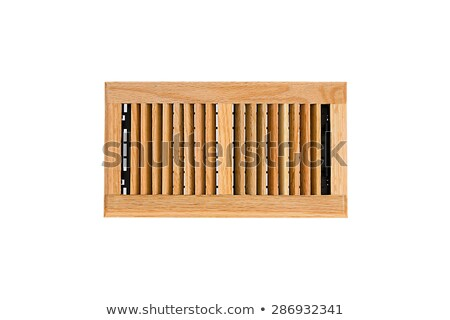 Stock photo: Solid Oak Wall And Ceiling Register