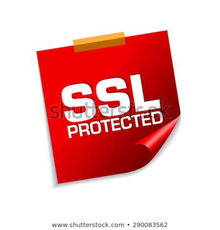 SSL Protected Red Sticky Notes Vector Icon Design Stock photo © rizwanali3d