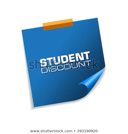 student discount blue sticky notes vector icon design stock photo © rizwanali3d
