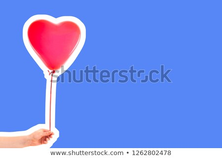 Bunch of Balloons Holding Up an Empty Banner Stock photo © make