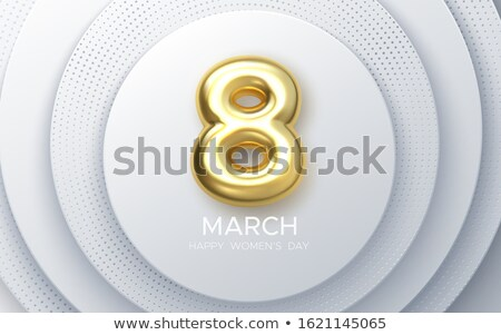3d woman with right symbol golden concept stock photo © nithin_abraham