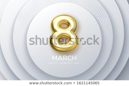 3d femme symbole or blanche Photo stock © nithin_abraham