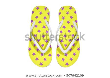фиолетовый пляж обувь изолированный белый моде Сток-фото © tetkoren