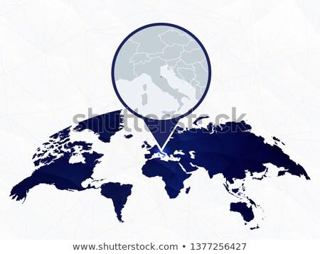 карта Италия Сан-Марино из изолированный белый Сток-фото © Istanbul2009