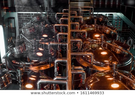 Nowoczesne wnętrza browar budowy przemysłowych płynnych Zdjęcia stock © jordanrusev