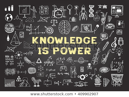 Business Education - Chalkboard With Hand Drawn Text. Stock photo © tashatuvango