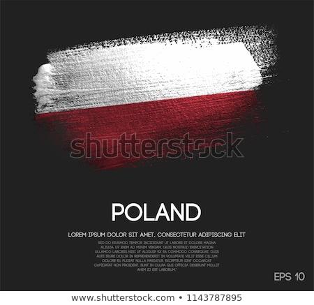 Polônia país bandeira mapa forma texto Foto stock © tony4urban