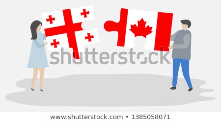Canada and Georgia Flags in puzzle Stock photo © Istanbul2009